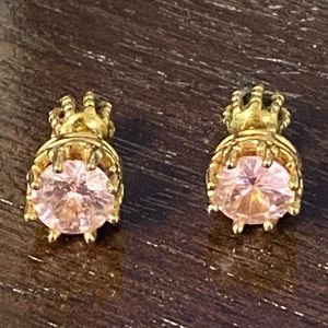 Juicy Couture Pink Sapphire Earrings